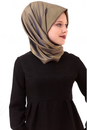 Belden Büzgülü Cepli Kadife Tesettür Elbise Siyah