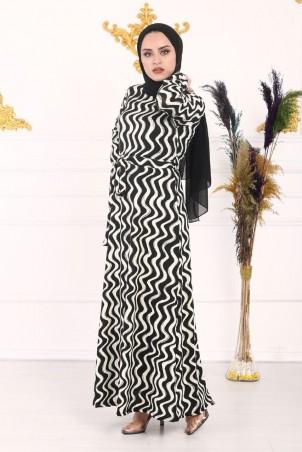 Dalgalı Desen Elbise