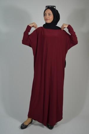Salaş Elbise Bordo