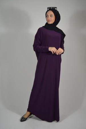 Salaş Elbise Mor